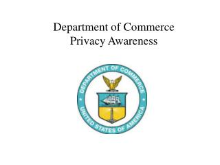 Department of Commerce Privacy Awareness