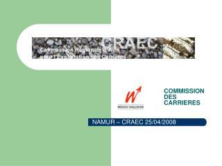 NAMUR – CRAEC 25/04/2008