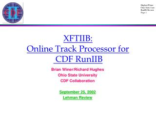XFTIIB:  Online Track Processor for  CDF RunIIB