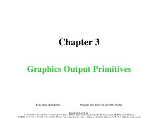 Chapter 3 Graphics Output Primitives