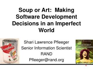 Soup or Art:  Making Software Development Decisions in an Imperfect World