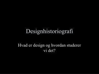 Designhistoriografi