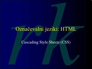 Označevalni jeziki: HTML