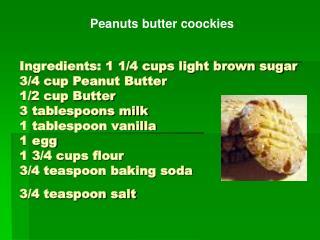 Peanuts butter coockies