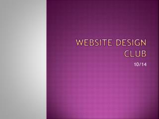 Website Design Club