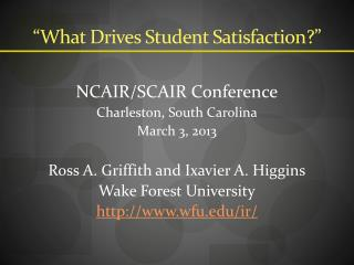 """What  Drives Student Satisfaction ?"""