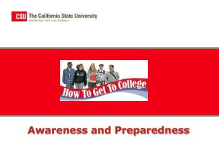 Awareness and Preparedness