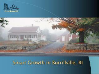 Smart Growth in Burrillville, RI