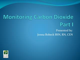 Monitoring Carbon Dioxide Part I