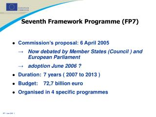 Seventh Framework Programme (FP7)