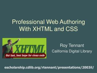 Professional Web Authoring With XHTML and CSS