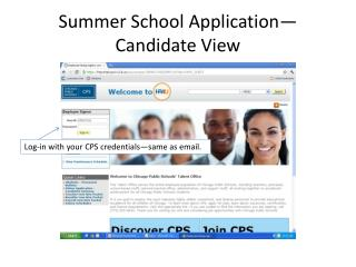 Summer School Application—Candidate View