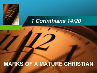 1 Corinthians 14:20