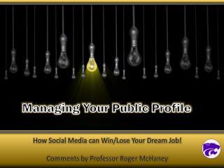 Managing Your Public Profile