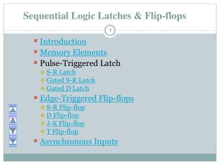 Sequential Logic Latches & Flip-flops