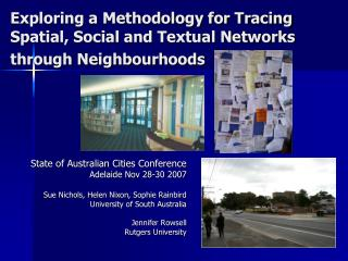 Exploring a Methodology for Tracing Spatial, Social and Textual Networks through Neighbourhoods
