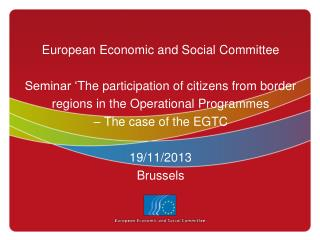 Institutional position of the EESC