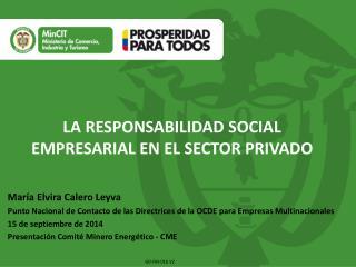 LA RESPONSABILIDAD SOCIAL EMPRESARIAL EN EL SECTOR PRIVADO