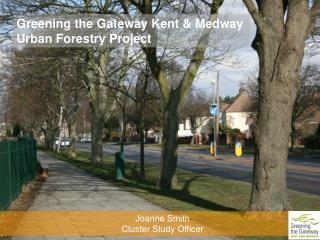 Greening the Gateway Kent & Medway  Urban Forestry Project