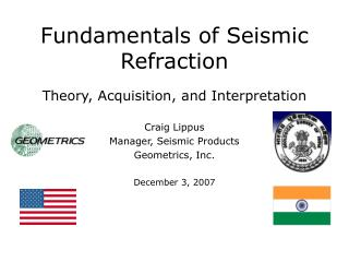 Fundamentals of Seismic Refraction Theory, Acquisition, and Interpretation