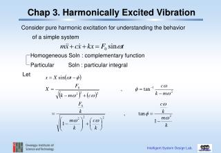 Chap 3. Harmonically Excited Vibration