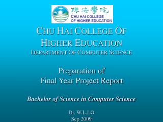 The Final Year Project Report