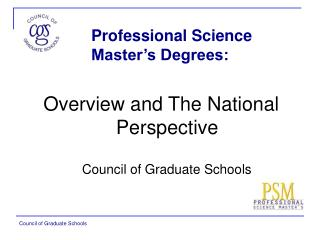 Professional Science Master's Degrees: