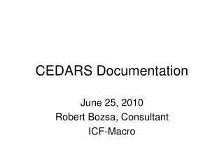 CEDARS Documentation