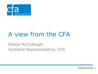 A view from the CFA