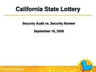 Security Audit vs. Security Review September 16, 2009