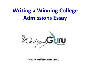 Essay writing service college admission a winning