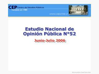Estudio Nacional de  Opinión Pública N°52