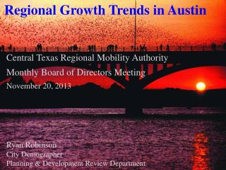 Central Texas Regional Mobility Authority Monthly Board of Directors Meeting November 20,  2013