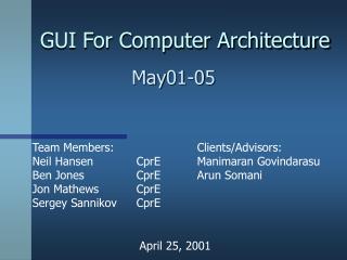 GUI For Computer Architecture