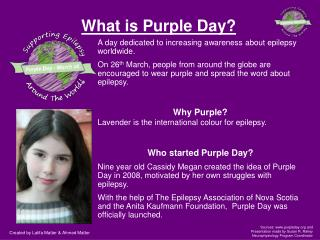What is Purple Day?