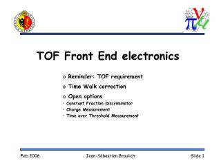 TOF Front End electronics