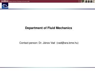 Department of  Fluid Mechanics