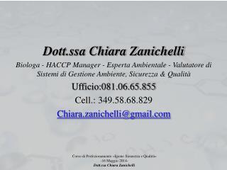 Dott.ssa Chiara Zanichelli