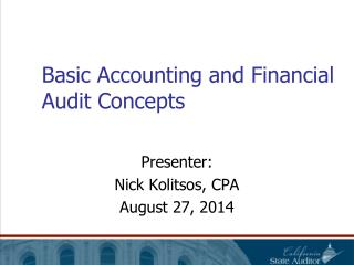 Basic Accounting and Financial Audit Concepts