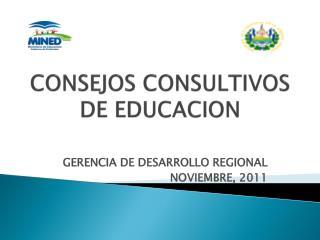 CONSEJOS CONSULTIVOS DE EDUCACION