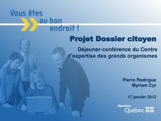 Projet Dossier citoyen