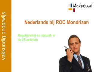 Nederlands bij ROC Mondriaan