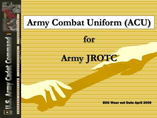 Army Combat Uniform (ACU) for Army JROTC