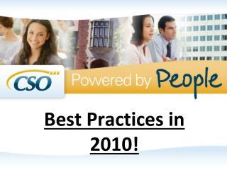 Best Practices in 2010!