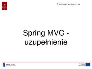 Spring MVC - uzupełnienie
