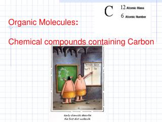 Organic Molecules : Chemical compounds containing Carbon