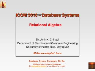 ICOM 5016 – Database Systems