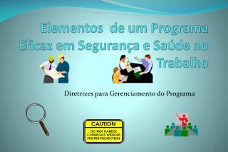 Elementos  de um Programa Eficaz em Seguran�a e Sa�de no Trabalho
