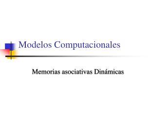Modelos Computacionales