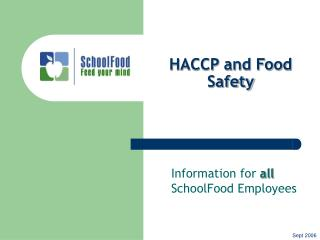 HACCP and Food Safety
